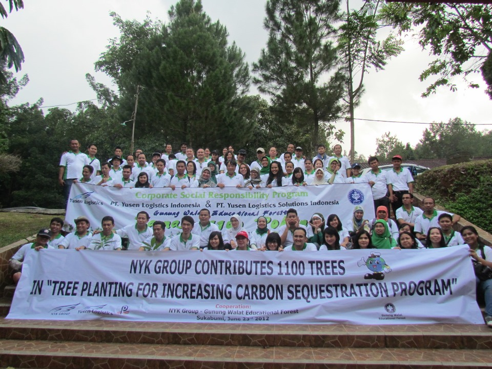 NYK Group Ceremonial Program Contributes 1,100 Trees in
