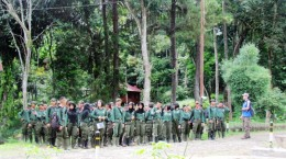 Field practice (year 2013)  of Forestry Vocational  Senior High School (SMK Kehutanan Kadipaten)