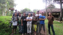 Survey of mountain bike track by Jakarta Downhiller Community