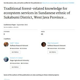 2015_Traditional forest-related knowledge for ecosystem services in Sundanese ethnic of Sukabumi District