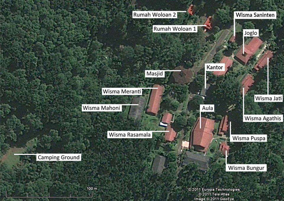 Peta lokasi fasilitas basecamp