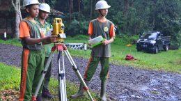 Praktik Kerja Kompetensi Geomatika SMK Adi Sanggoro Bogor tahun 2019
