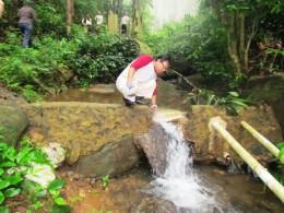 Sungai kecil hutan pendidikan gunung walat