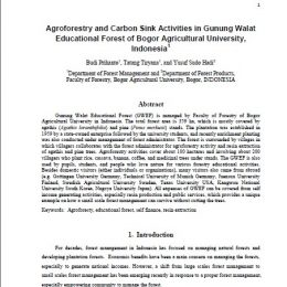 2011_agroforestry and carbon sink