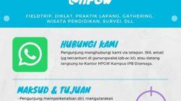 Infografis pelayanan kunjungan kegiatan di Hutan Pendidikan Gunung Walat Sukabumi Jabar