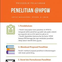 Infografis pelayanan penelitian di Hutan Pendidikan Gunung Walat Sukabumi